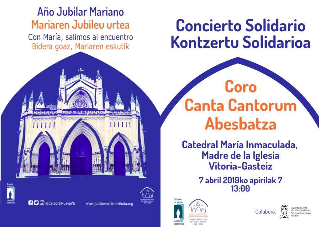 Concierto Canta Cantorum Catedral Maria Inmaculada Vitoria-Gasteiz 2019_04_07
